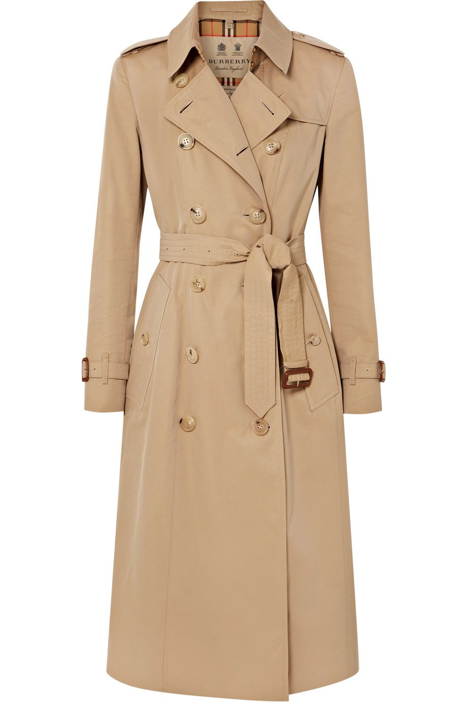 Burberry | The Chelsea Long cotton-gabardine trench coat | NET-A-PORTER.COM