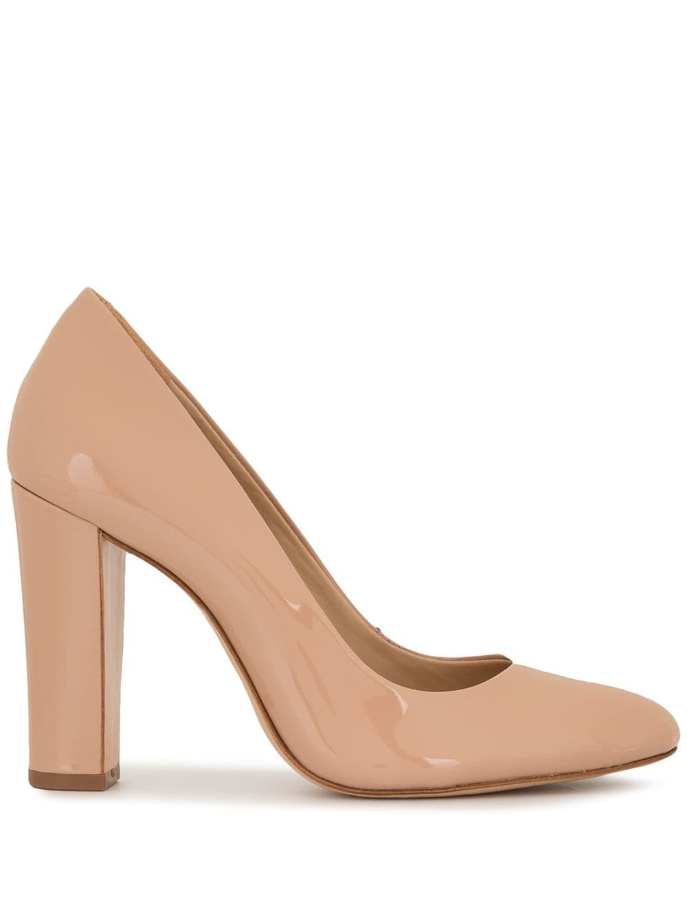Neutral Schutz Chunky Heel Pumps | Farfetch.com