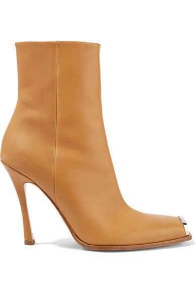 CALVIN KLEIN 205W39NYC   Wilamiona metal-trimmed leather ankle boots   NET-A-PORTER.COM