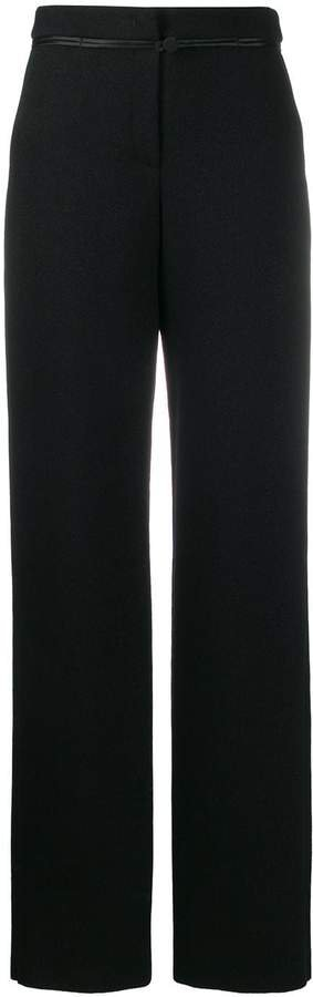 high-waisted straight leg trousers