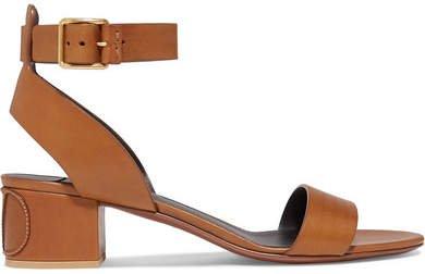 Garavani Go Logo 45 Leather Sandals - Tan