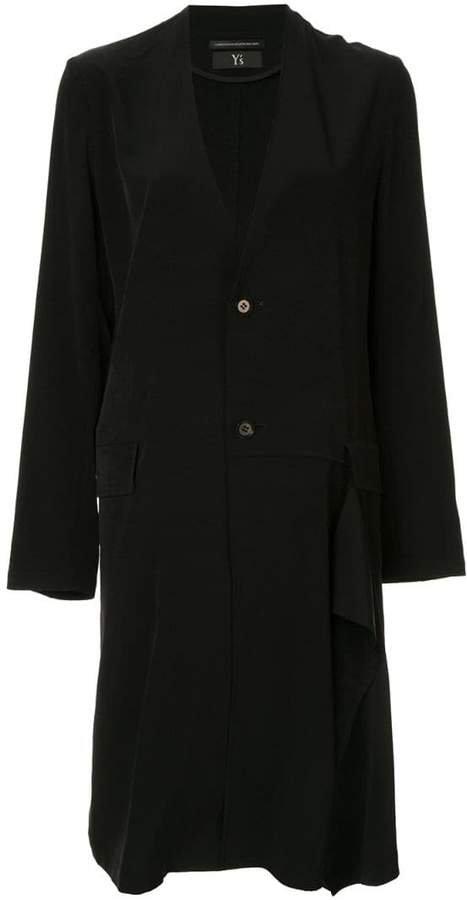 lightweight ruffle detail coat