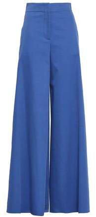 Stretch-cotton Twill Wide-leg Pants