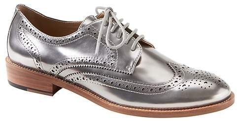 Silver Patent Leather Brogue Oxford