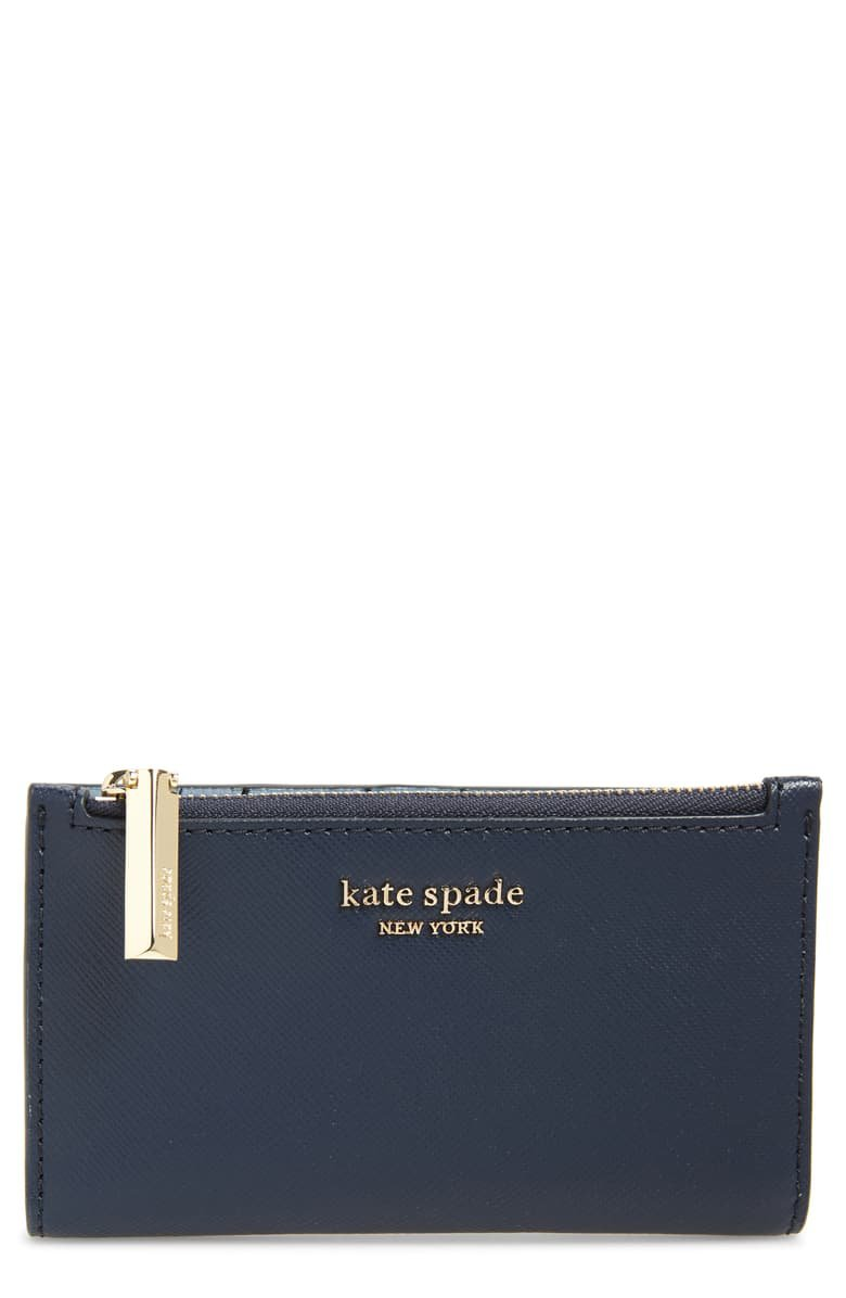 kate spade new york spencer small slim saffiano leather bifold wallet   Nordstrom