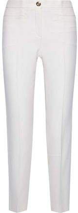 Silk-cady Slim-leg Pants