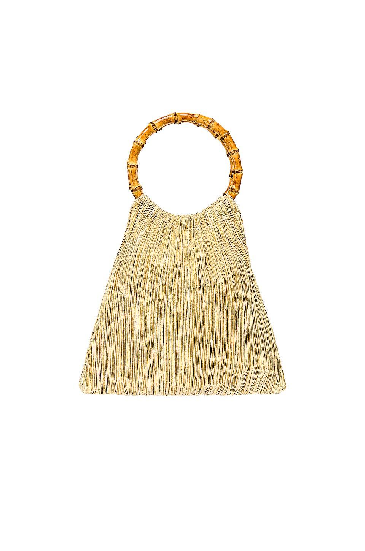 Mattie Bamboo Handle Pouch