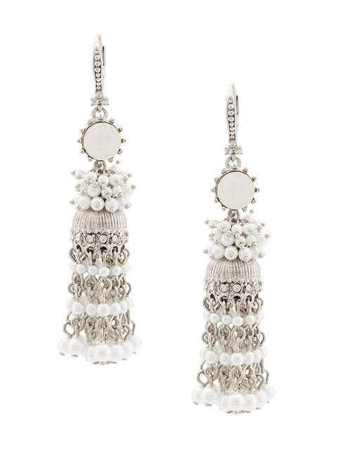 Marchesa Notte Beaded Tassel Earring - Farfetch