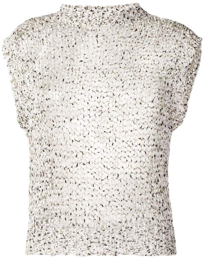 open knit tank top
