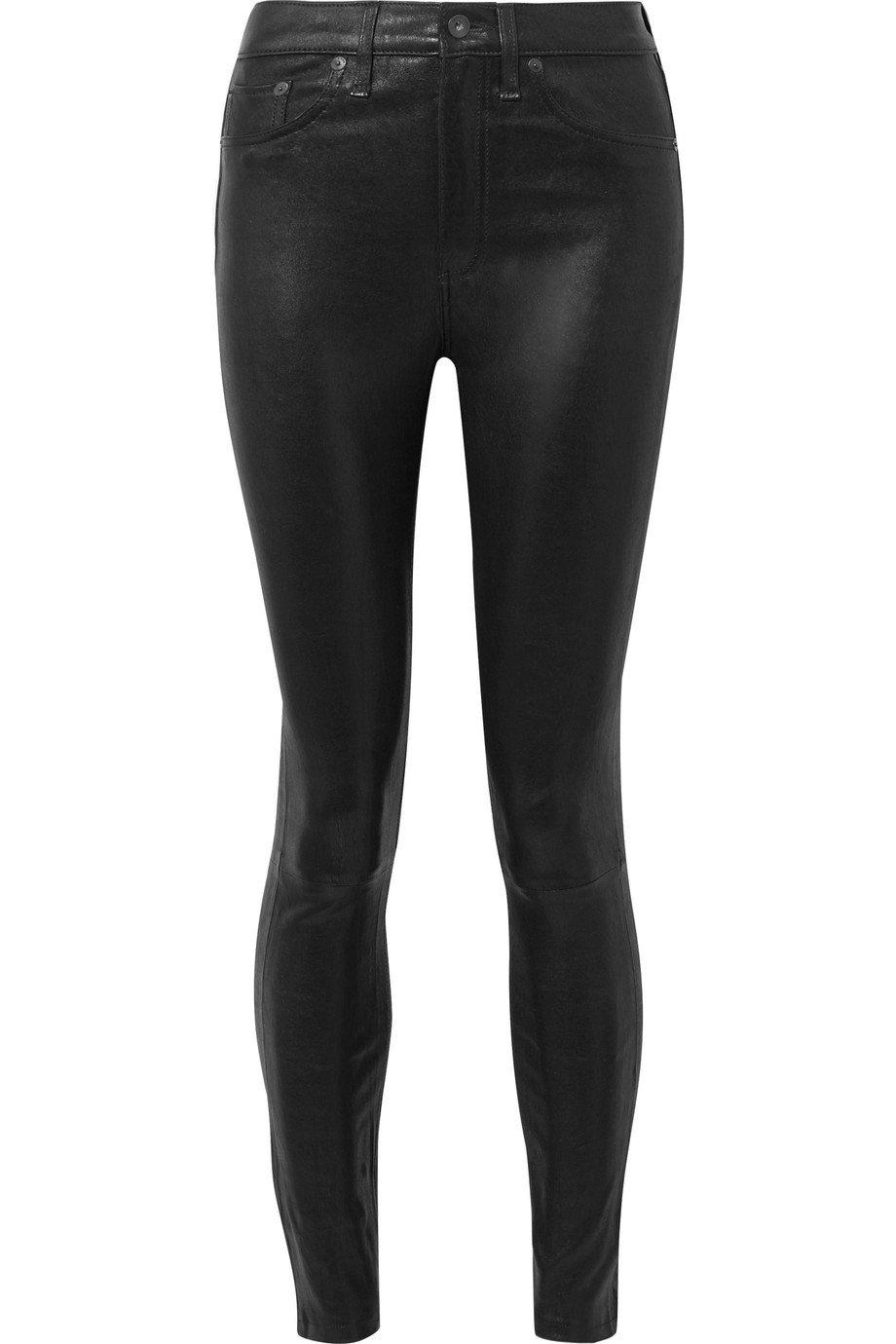 rag & bone | Leather high-rise skinny pants | NET-A-PORTER.COM