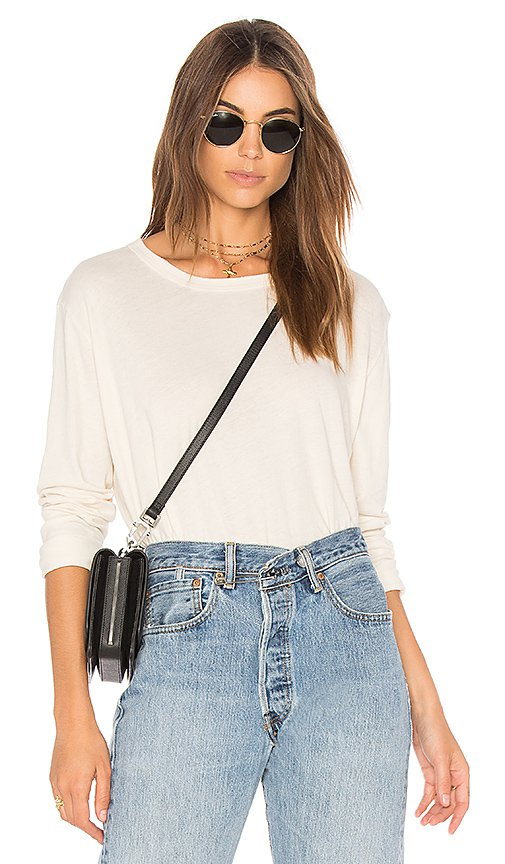 The Great The Crop Tee in Washed White | REVOLVE