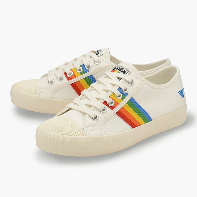 Gola Classics® Coaster rainbow-striped sneakers : Women shoes | J.Crew