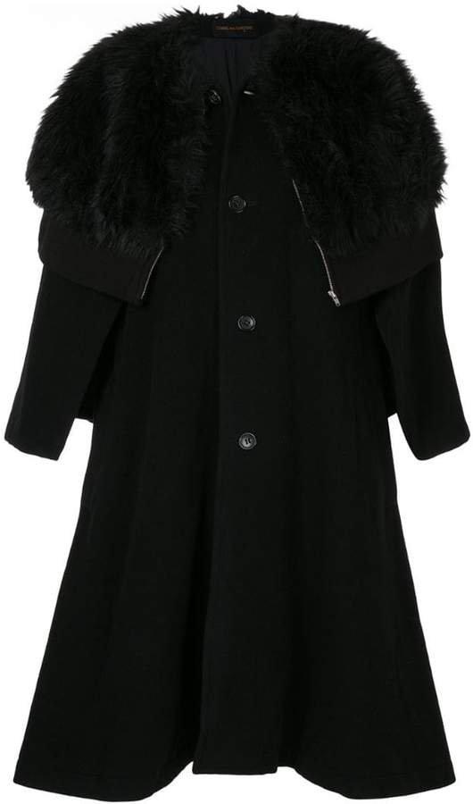 Pre-Owned faux fur cape coat
