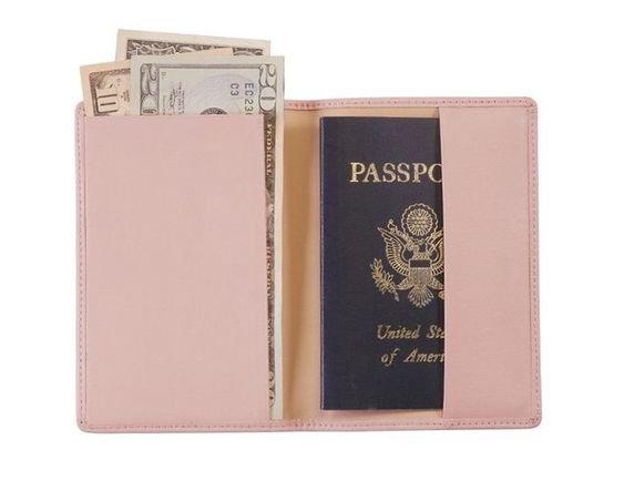 Pink passport case
