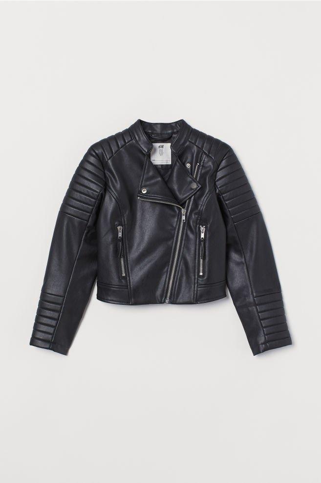 Biker Jacket - Black - Kids | H&M US