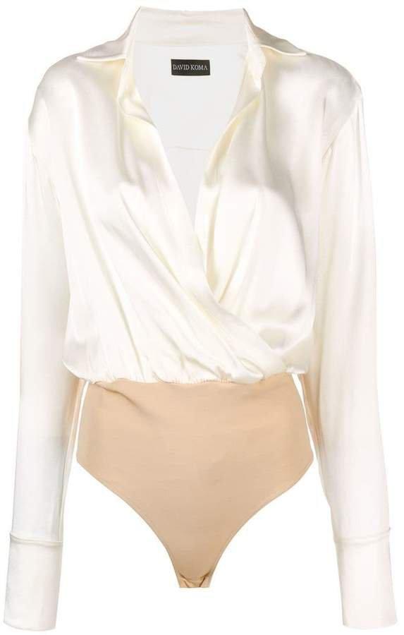 crossed shirt bodysuit