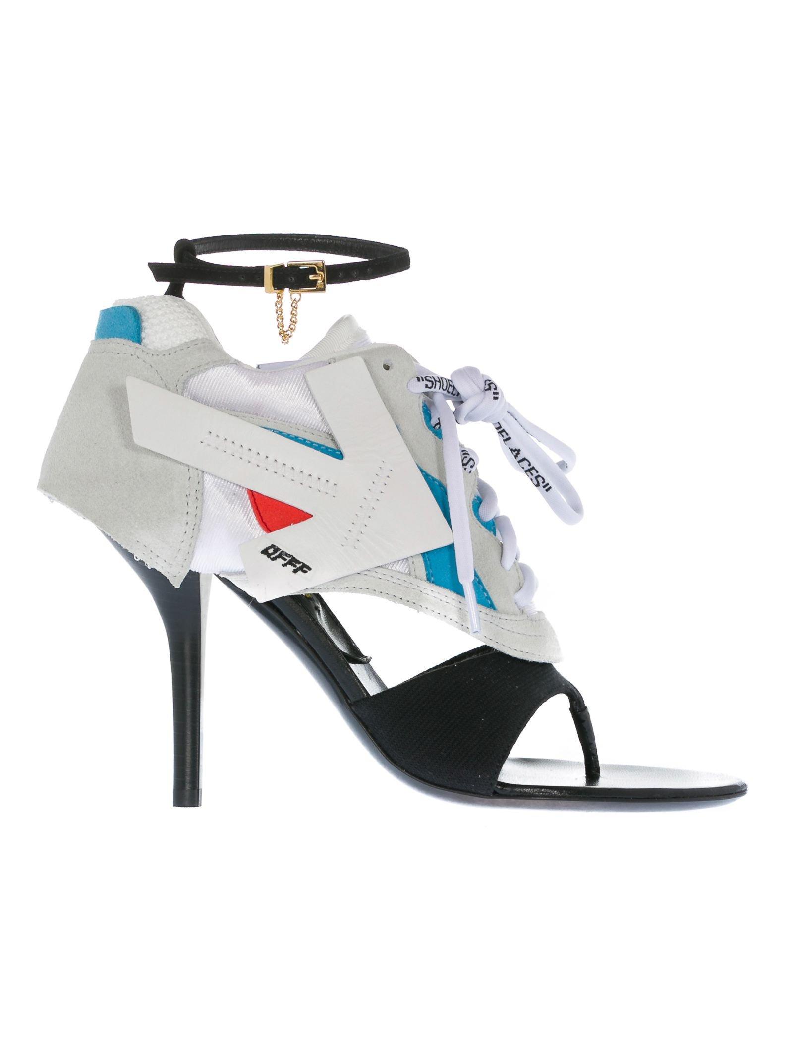 Off-white Runner Heel Sandals