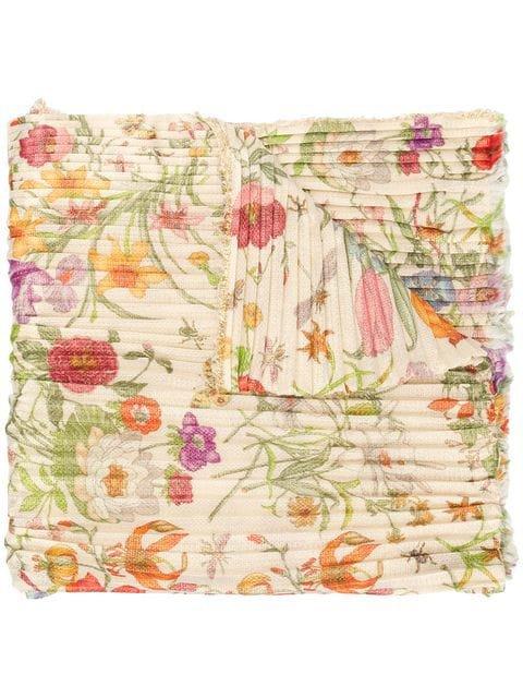 Gucci floral print scarf