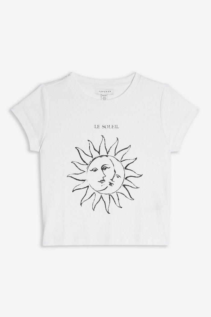 PETITE 'Le Soleil' T-Shirt | Topshop white
