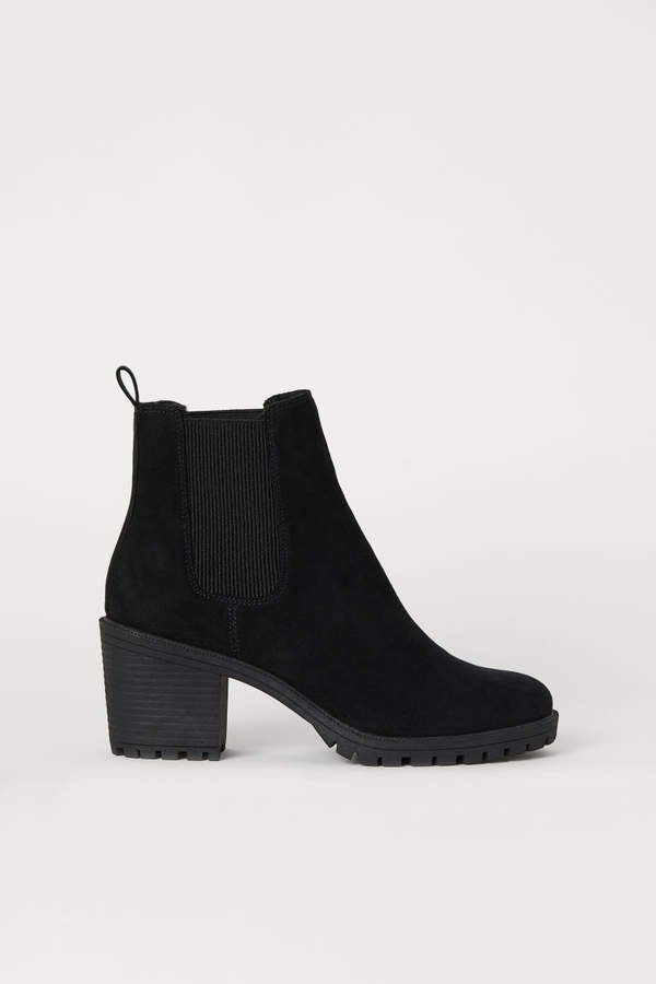 Warm-lined Ankle Boots - Black