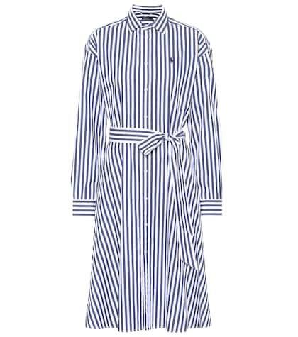 Striped cotton midi dress