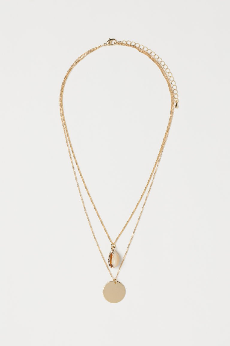 Double-strand Necklace - Gold-colored/shell - Ladies | H&M US