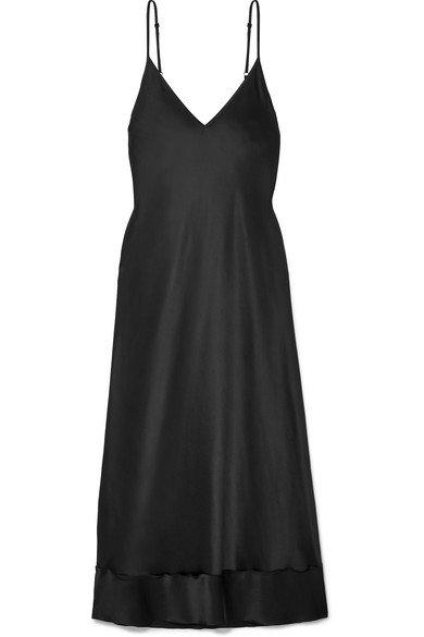 Lee Mathews | Rose silk-satin midi dress | NET-A-PORTER.COM