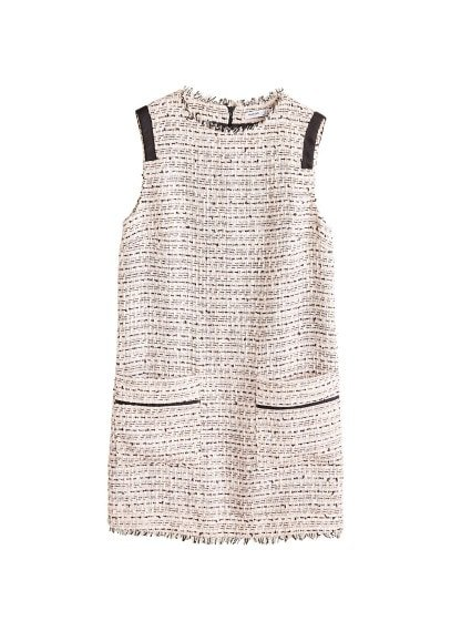MANGO Tweed dress