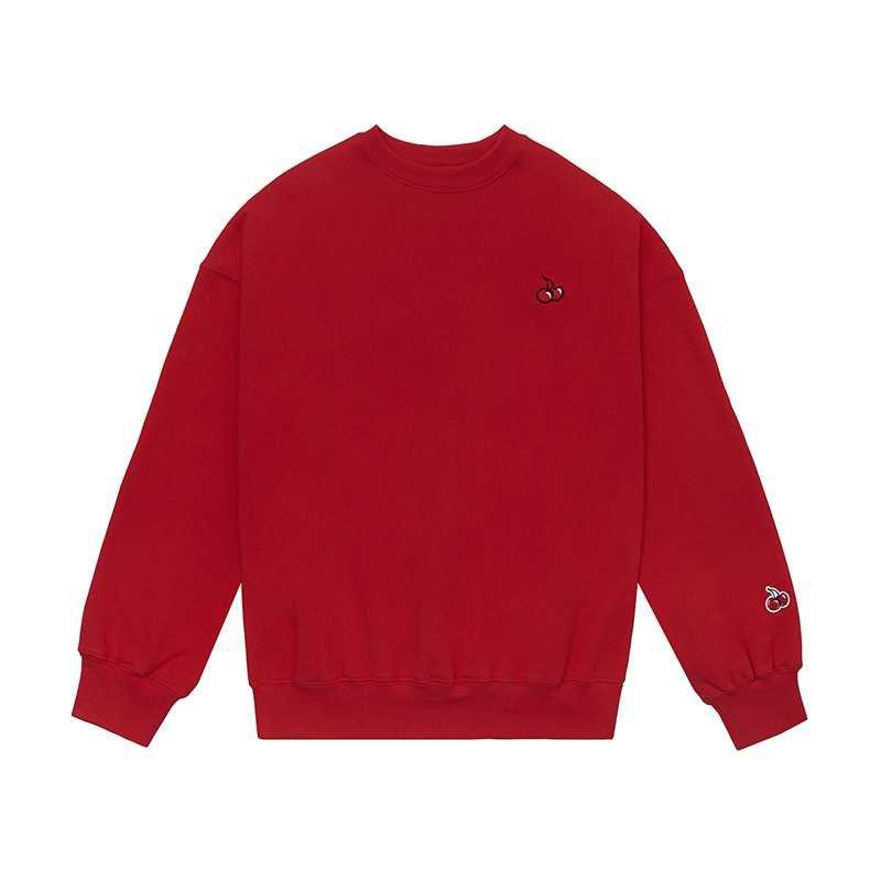 KIRSH - SMALL CHERRY SWEATSHIRT HS [RED] - kirsh