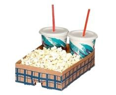 drink and popcorn