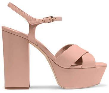 Farrah Leather Platform Sandals - Neutral