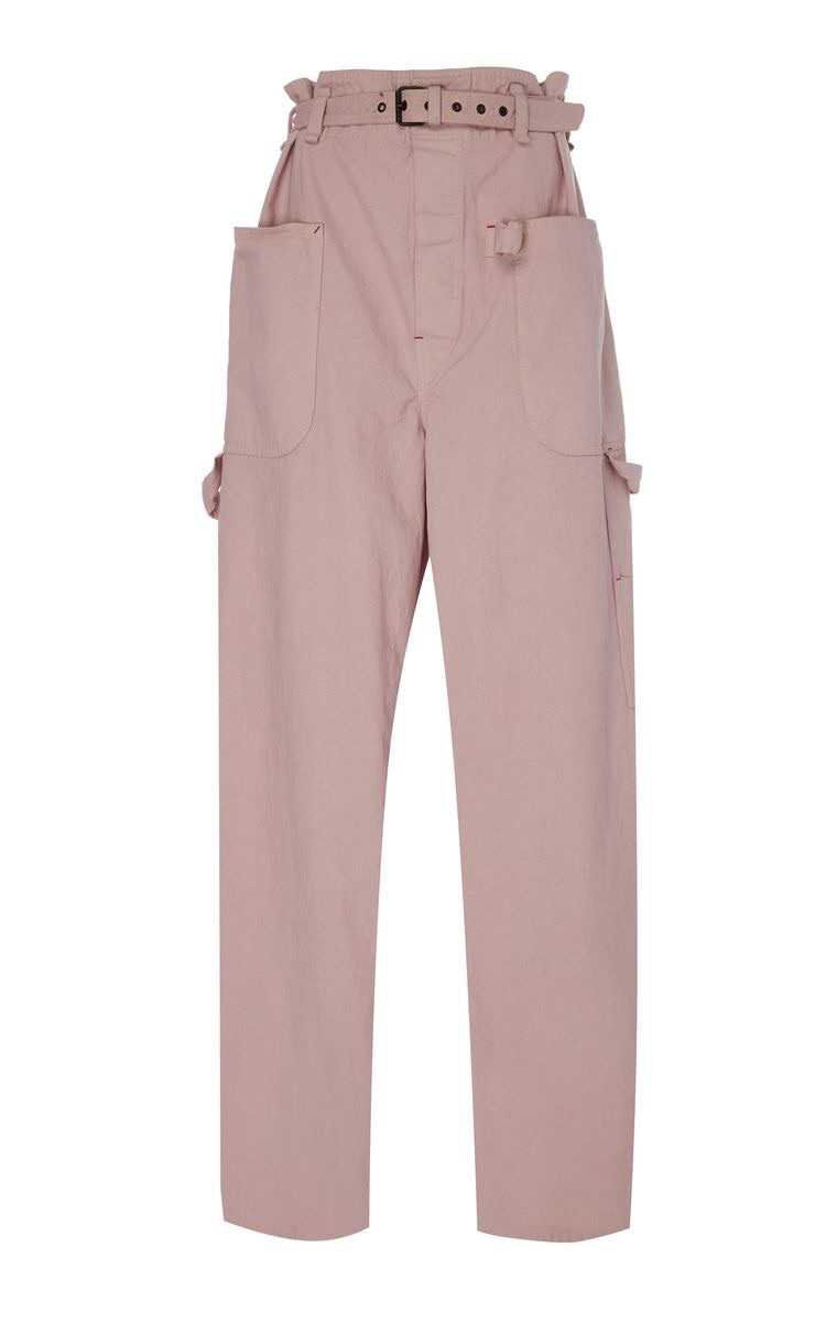Inny High-Rise Belted Cotton Pants by ISABEL MARANT