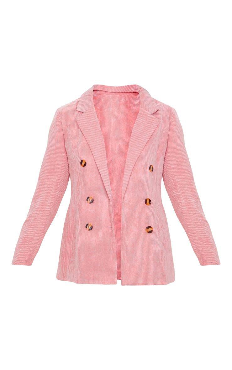 Pink Cord Oversized Boyfriend Blazer | PrettyLittleThing USA
