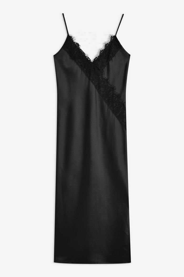 Lace Satin Slip Dress | Topshop