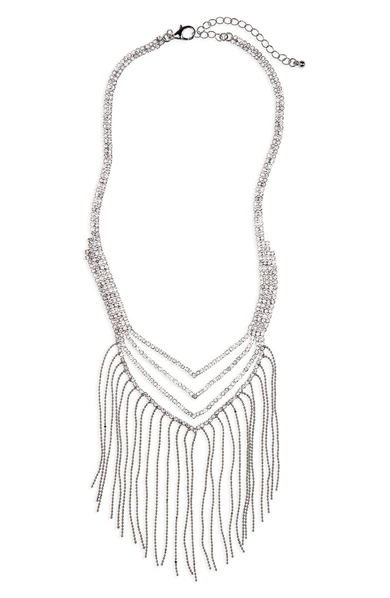 Lula Crystal & Fringe Necklace | Nordstrom