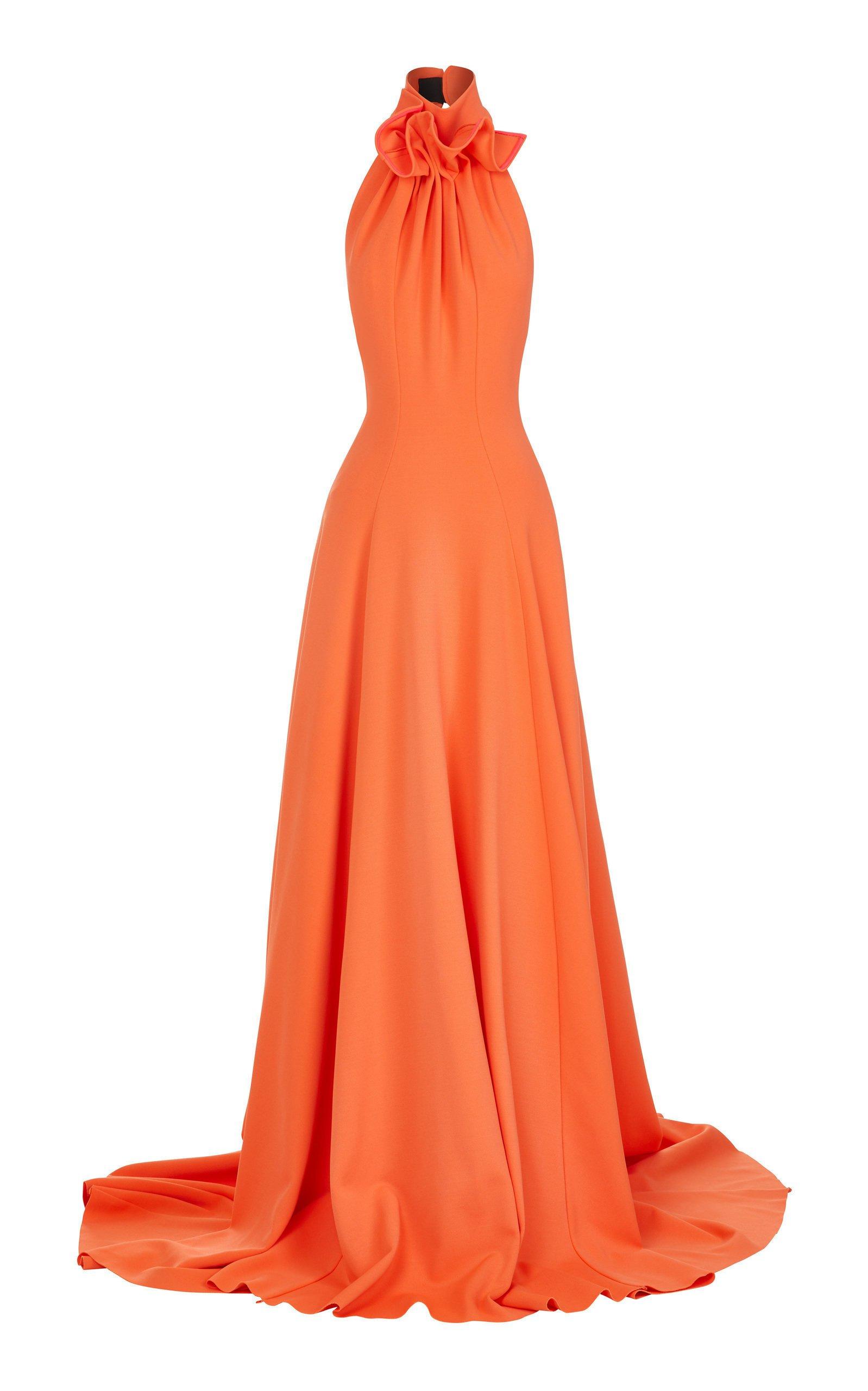 Maticevski Palma Gathered Cady Halterneck Gown Size: 6