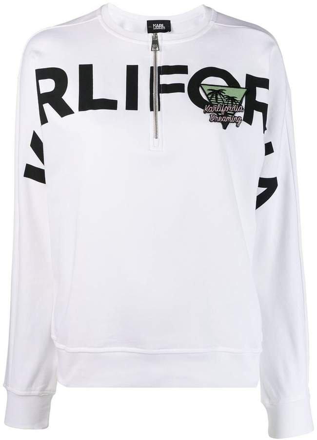 Karlifornia half-zip sweatshirt