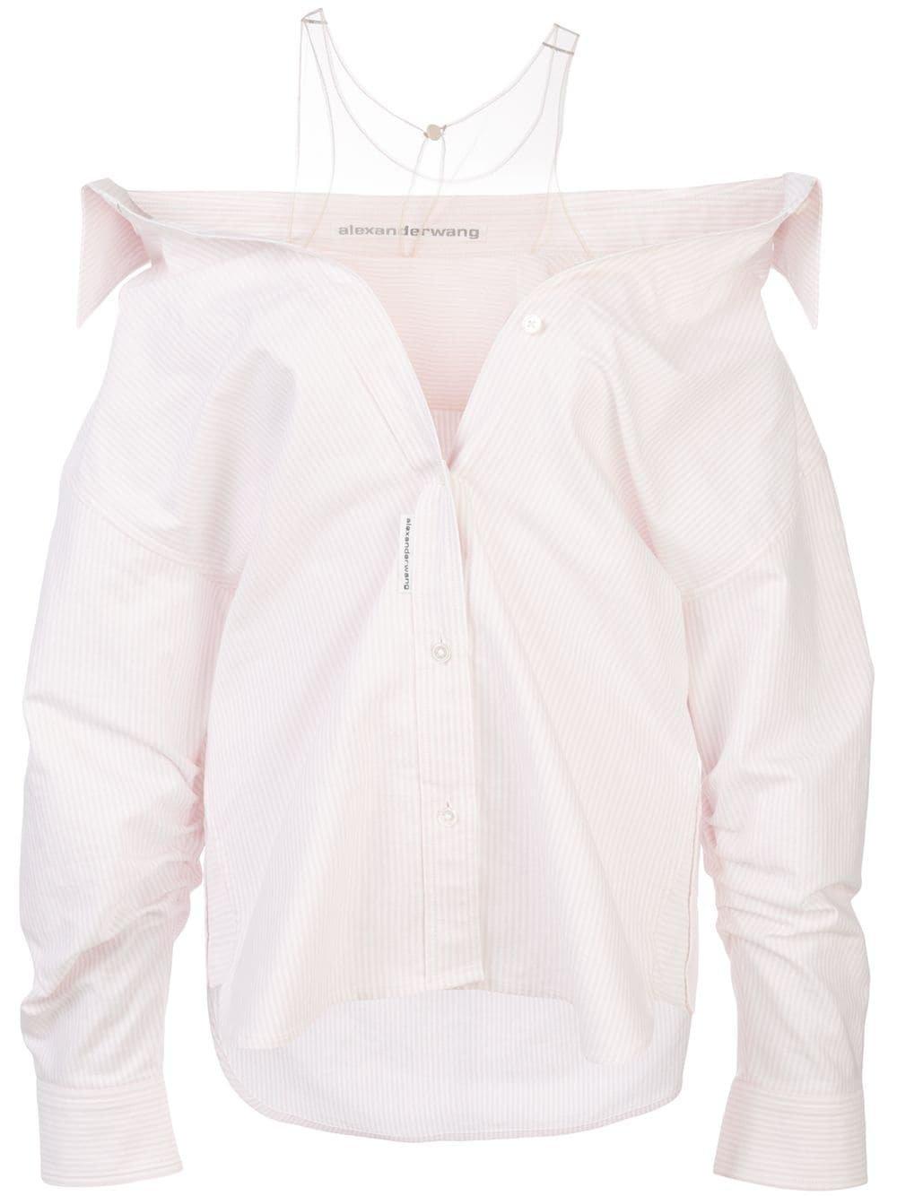 Alexander Wang Falling Striped Shirt - Farfetch