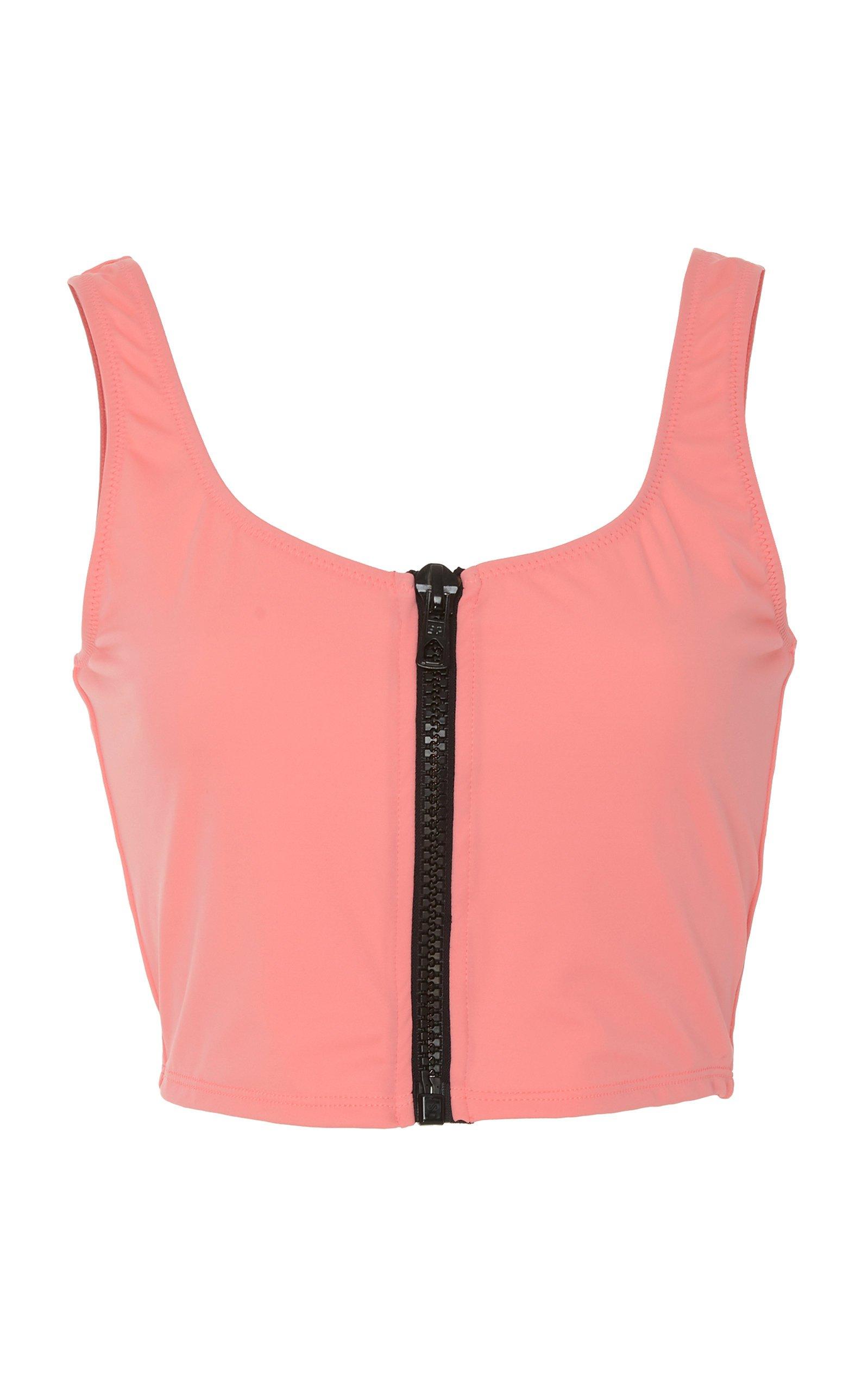 Solid & Striped Christie Zip-Front Bikini Top