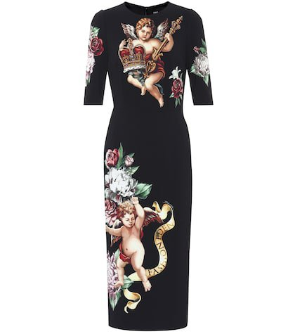 Cherub-printed dress
