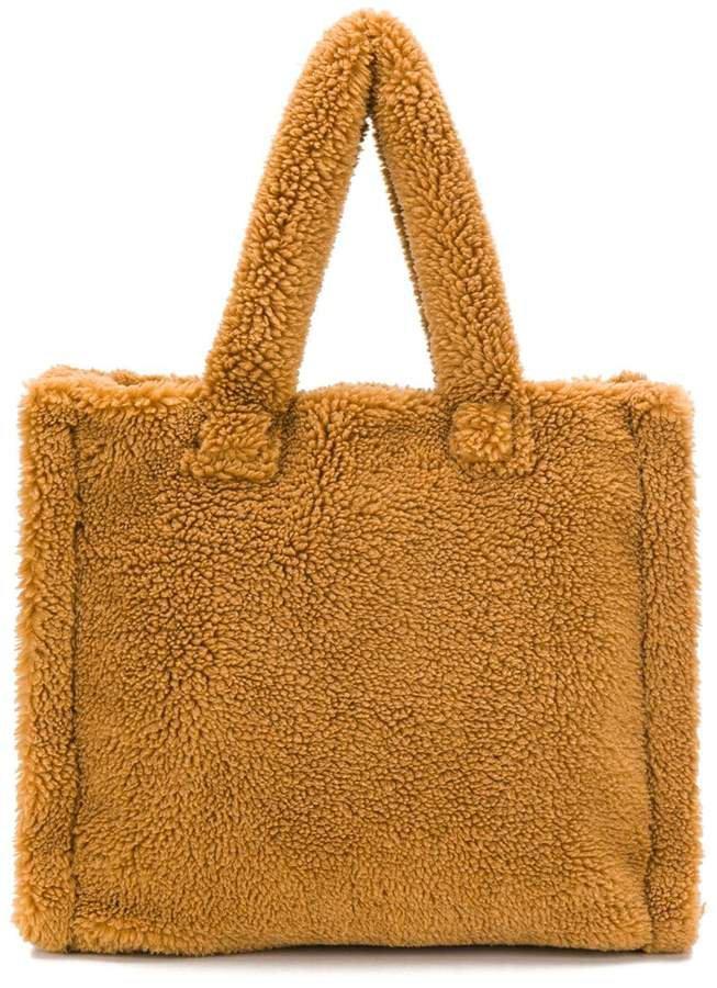 STAND STUDIO shearling tote bag