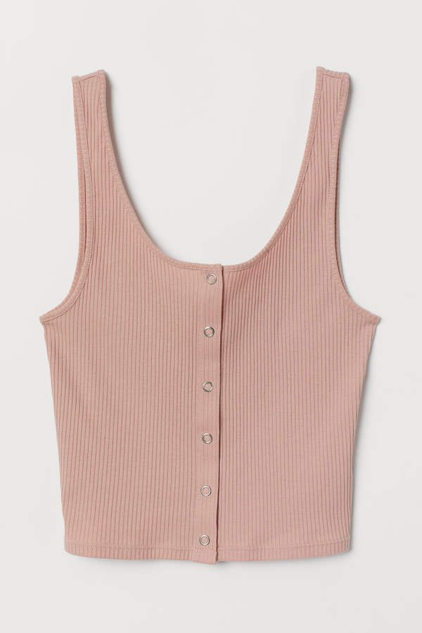 Tank Top with Snap Fasteners - Orange