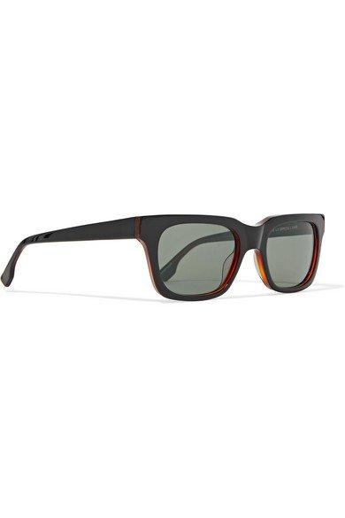 Le Specs | Fellini D-frame acetate sunglasses | NET-A-PORTER.COM