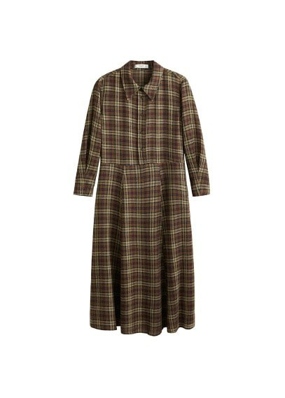 MANGO Long shirt dress