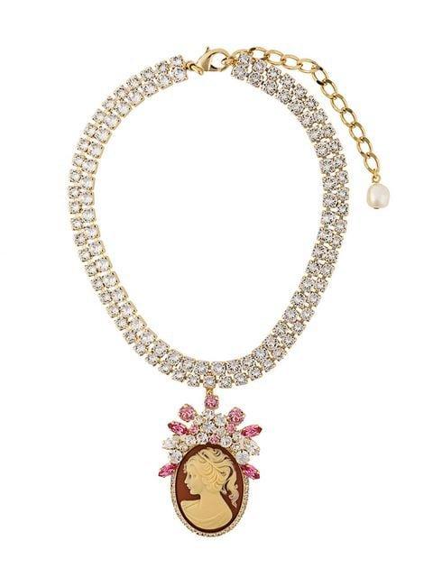Dolce & Gabbana Embellished Pendant Necklace - Farfetch