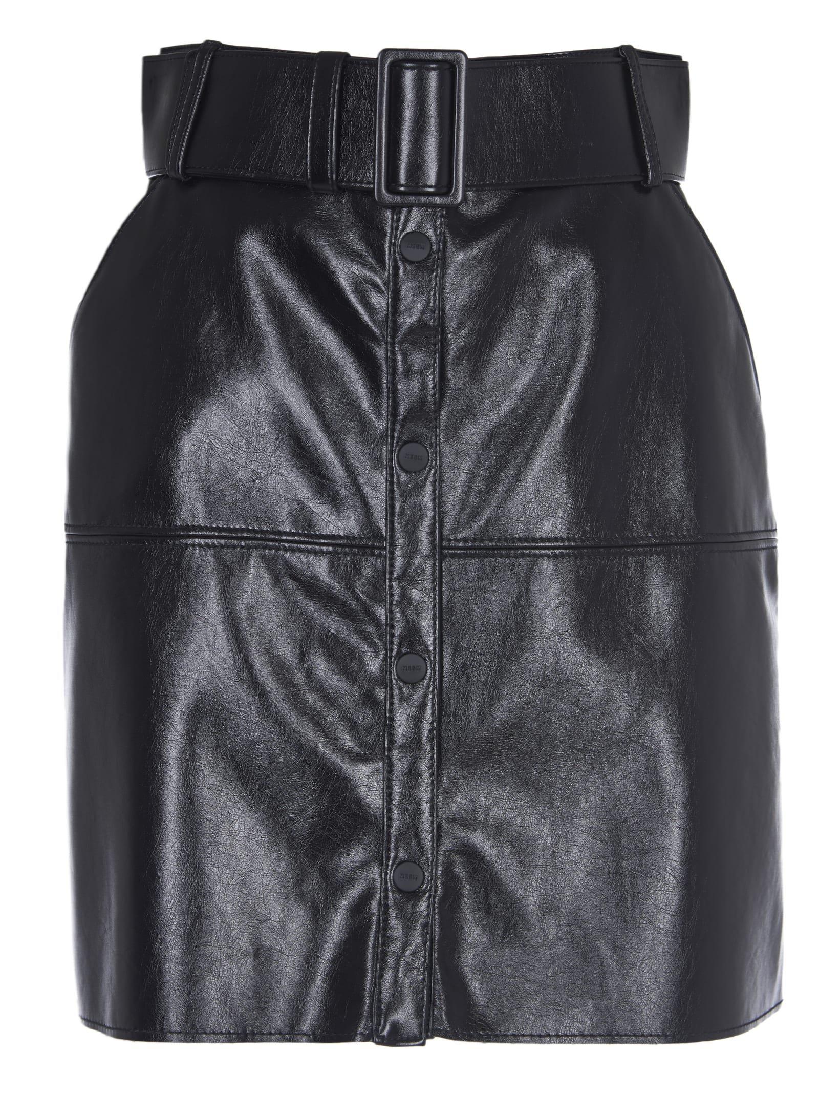 MSGM Black Short Skirt
