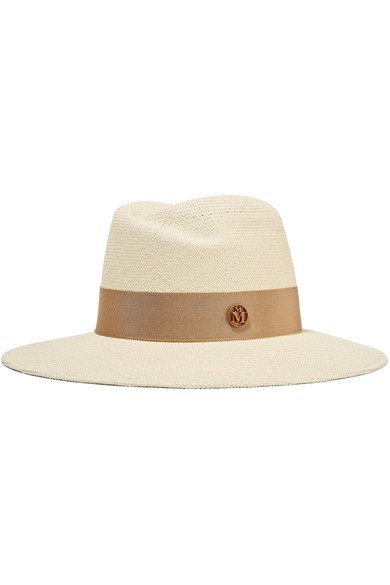 Maison Michel   Grosgrain-trimmed straw hat   NET-A-PORTER.COM