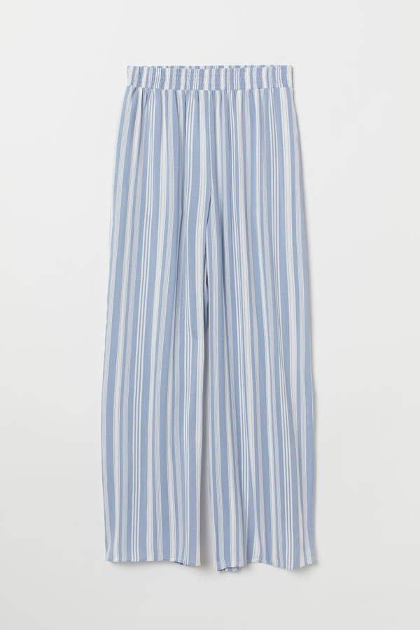 Wide-leg Pants - Blue
