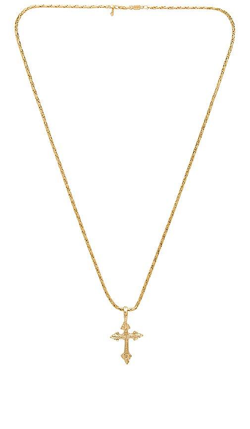 Vanessa Mooney Anastasia Cross Necklace in Gold | REVOLVE