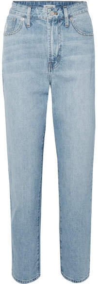 The Curvy Perfect Vintage High-rise Straight-leg Jeans - Light denim